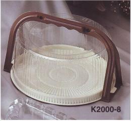 กล่องพลาสติกใส่ขนมเค้ก (มีหูหิ้ว) 2 ปอนด์