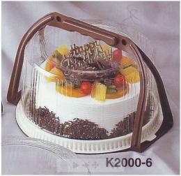 กล่องพลาสติกใส่ขนมเค้ก (มีหูหิ้ว) 1 ปอนด์