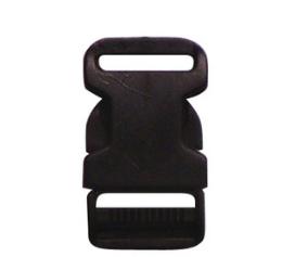 ล็อคสาย ก้ามปูพลาสติก 6 หุน สีดำ
