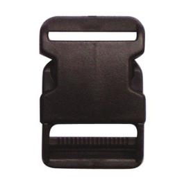 ตัวล็อคสายกระเป๋า ก้ามปู 30 มิล พลาสติกสีดำ