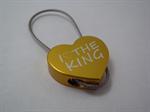 พวงกุญแจ CNC รูปหัวใจ I LOVE THE KING