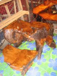 โต๊ะชุดรากไม้สัก เก้าอี้ 2 ตัว