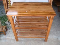โต๊ะวางทีวี ไม้สัก 3 ชั้น