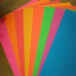 กระดาษสติ๊กเกอร์สีสะท้อนแสง