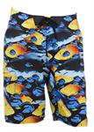 กางเกงชายหาดขาสั้น ลายปลา