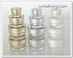 กระปุกอะคริลิครุ่น V 15ml - 15ml V Shape Acrylic Cream Jar