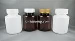 ขวดยาเม็ด PET 150ml เตี้ย ฝาป๊อกแป๊ก/ฝาเซฟตี้ (MD183)