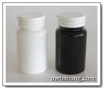 ขวดยาเม็ดกลม PET 100g สีขาว-สีชา (MD171)