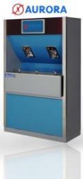 ตู้กรองน้ำดื่ม ก๊อกน้ำพุ่ง 3 หัวก๊อก ก๊อกแก้วดัน 2 หัวก๊อก Model - A