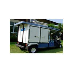 รถพลังงานไฟฟ้า 2 ที่นั่งแบบพิเศษพร้อมตู้ Container