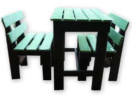โต๊ะชุดเล็ก สีเขียว เก้าอี้ชุดเล็ก สีเขียว