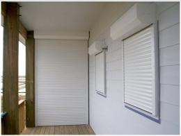 ประตูมู่ลี่บานเดี่ยว - หน้าต่างมู่ลี่ม้วนนิรภัยม้ว