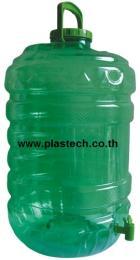 ถังน้ำดื่มแบบมีก็อกขนาด 20ลิตรสีเขียว