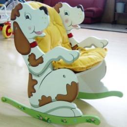 เก้าอี้โยกลายหมาจุพร้อมเบาะ KYW-7555A