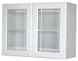 ตู้แขวนติดผนังบานกระจกตรง 6080 KMP