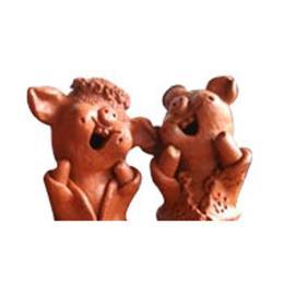 ตุ๊กตาดินเผาหมูคู่กิ๊ก (SPD012)
