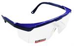 22-ว001-001 แว่นตานิรภัยกรอบสีน้ำเงิน เลนส์ใส
