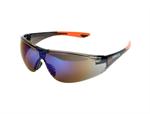 22-ว001-042แว่นตานิรภัยกันสะเก็ดเลนส์สีเทาปรอทแดง รุ่นSY-823