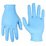 08-ถ001-222 แพทย์ไนไตรถุงมือเป็นสีฟ้าฟ้า หนาพิเศษ
