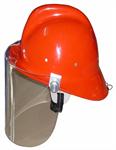 24-ห001-072 หมวกดับเพลิงในประเทศสีแดง - พร้อมแผ่นกระบัง