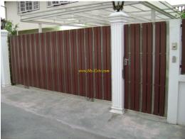 ประตูสแตนเลสผสมไม้ SW041