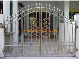 ประตูรั้วสแตนเลสแบบโปร่ง SS023
