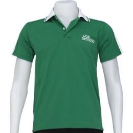 เสื้อโปโลผ้ากีฬา สีเขียว