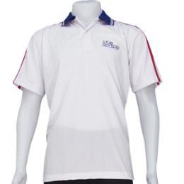 เสื้อโปโลผ้ากีฬา สีขาว