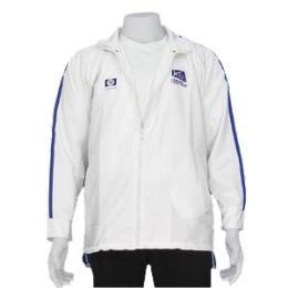 เสื้อแจ็คเก็ตผ้าร่ม สีขาว