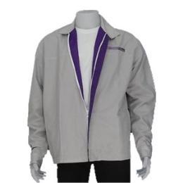 เสื้อแจ็คเก็ตสีเทาซับในสีม่วง