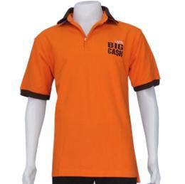เสื้อโปโล สีส้ม ผ้าจุติ