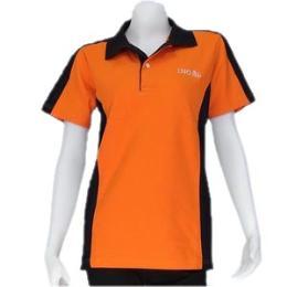 เสื้อโปโลผู้หญิงแบบตัดต่อ สีส้ม