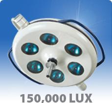 โคมไฟผ่าตัดติดเพดานชนิด 6 ดวง Vega 150
