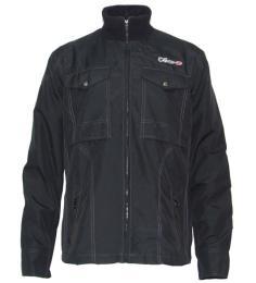 เสื้อแจ๊คเก็ตผ้าร่ม JZ สีดำ