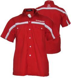 เสื้อฟอร์มพนักงาน ผ้าโทเล สีแดง