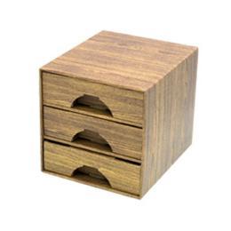 กล่อง 3 ลิ้นชักจิ๋ว ลายไม้