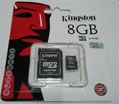 เมมโมรี่การ์ด Micro SD Card 8GB KINGSTON