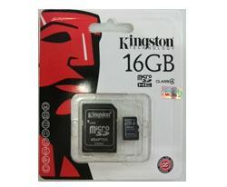 เมมโมรี่การ์ด Micro SD Card 16 GB KINGSTON