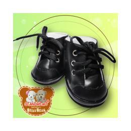 No 151 รองเท้าบู้ทหนังสีดำ