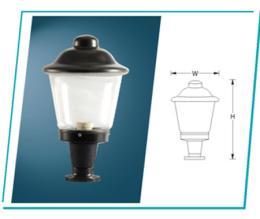 โคมไฟหัวเสา PR-HI-OD 002