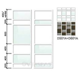 รูปแบบหน้าบานผสม รุ่น D601A+D601B