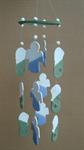 โมบายเซรามิค Wind Chimes 4017 (4 rows) Doll / Merlion