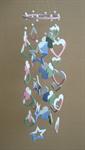 โมบายเซรามิค Wind Chimes 4017 (8 rows) Star / Heart / Doll
