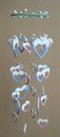โมบายเซรามิค Wind Chimes 4017 (8 rows) Heart