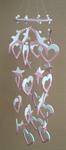 โมบายเซรามิค Wind Chimes 4017 (8 rows) Bird / Heart / Star