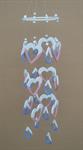 โมบายเซรามิค Wind Chimes 4017 (8 rows) Heart / Diamond