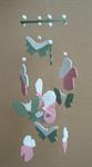 โมบายเซรามิค Wind Chimes 4017 (4 rows) Butterfly / Merlion / Doll
