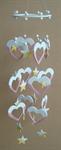 โมบายเซรามิค Wind Chimes 4017 (8 rows) Heart / Star