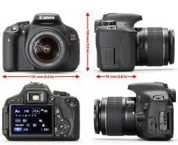 กล้องถ่ายรูป  EOS 600D Lens 18-135IS