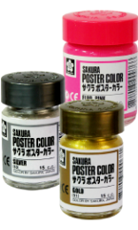 สีโปสเตอร์ ชนิดขวด sakura (สีสะท้อนแสง)  PW-#-FLUO